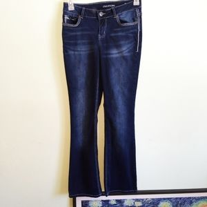 Maurices Boot Cut Dark Wash Jeans Size 1/2